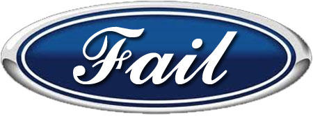 the ford logo with fail instead of ford