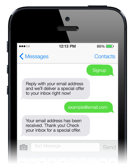 Use Text Messaging to Capture Email Addresses Quickly and